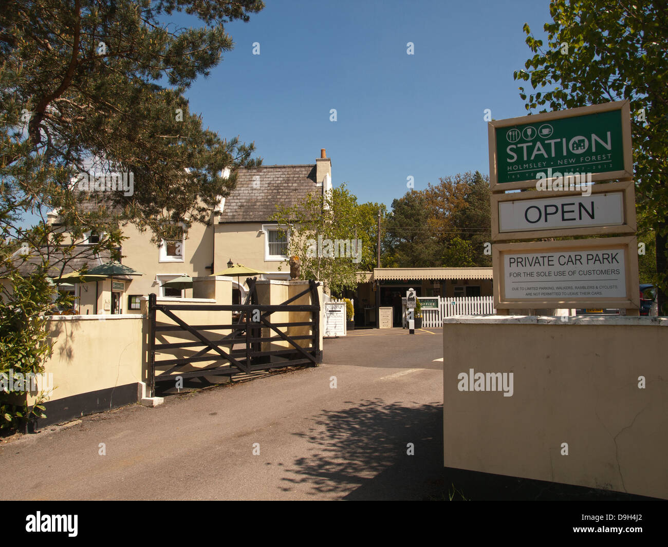 The Station House cafe and tearooms on the old Holmsley railway line in the New Forest Hampshire England UK Stock Photo
