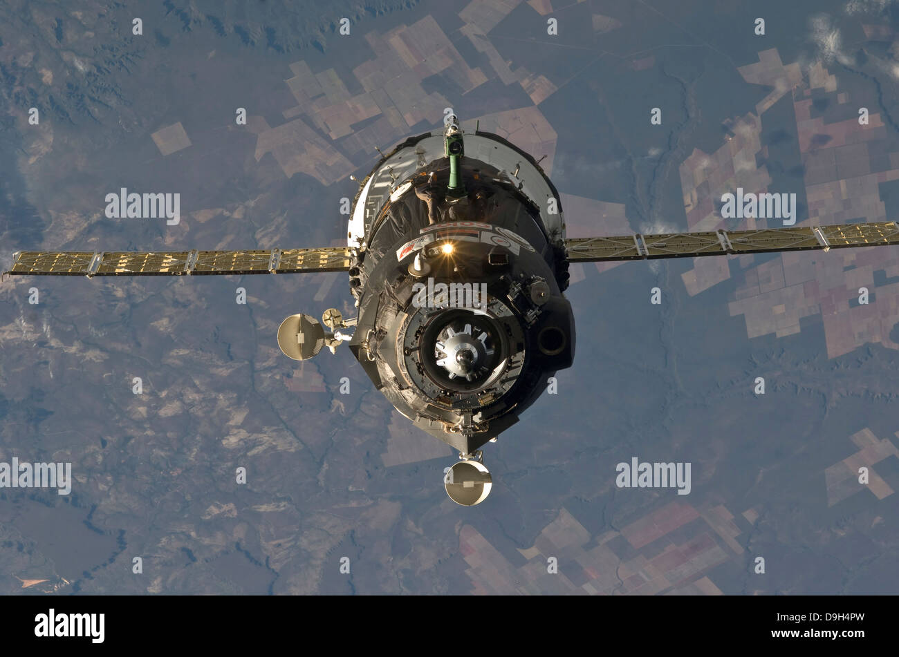 The Soyuz TMA-19 spacecraft. - Stock Image