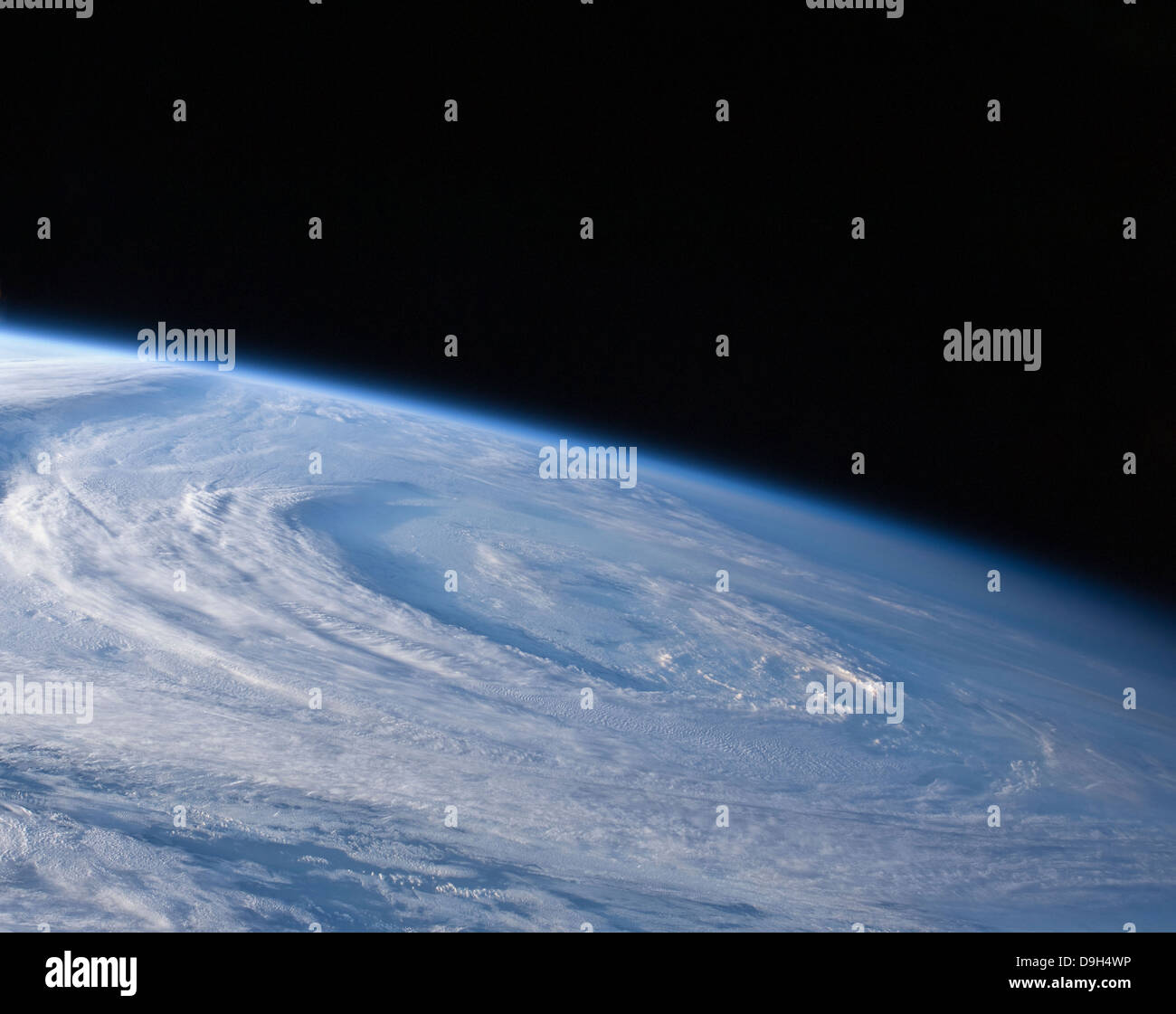 A high-oblique view of the extra-tropical unnamed cyclone that merged with Hurricane Earl. - Stock Image