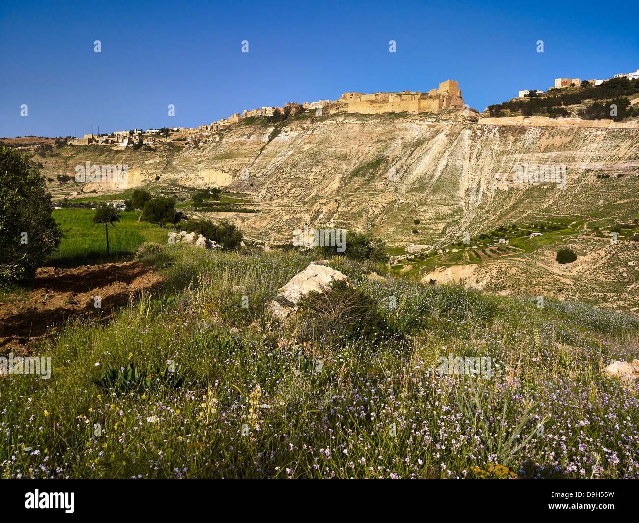 Crusaders Castle Karak, Jordan, Middle East Stock Photo