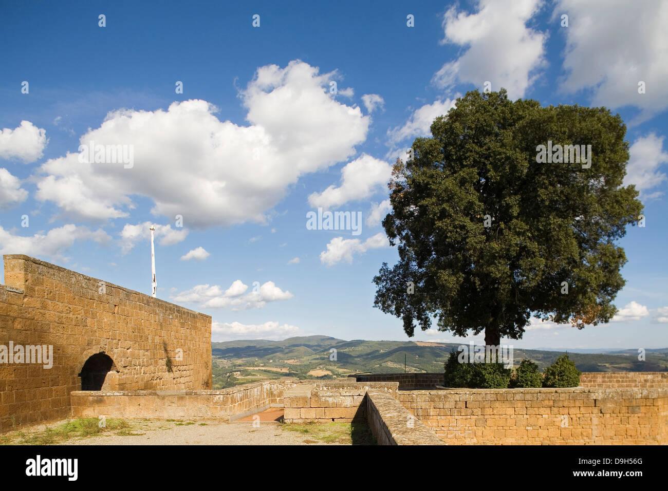 europe, italy, umbria, orvieto, albornoz fortress Stock Photo