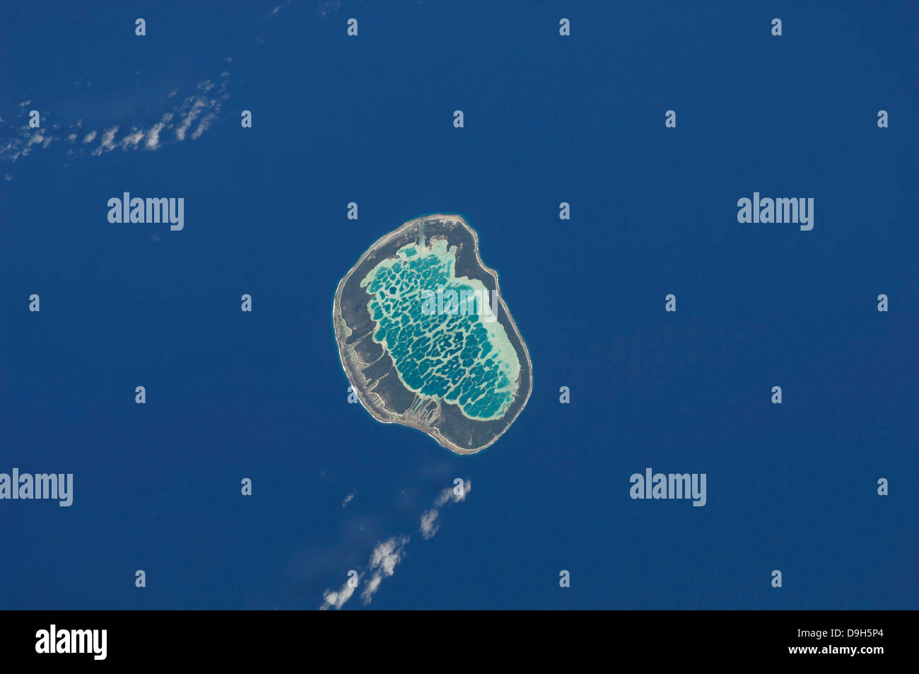 Mataiva Atoll, Tuamotu Archipelago in the South Pacific Ocean. - Stock Image