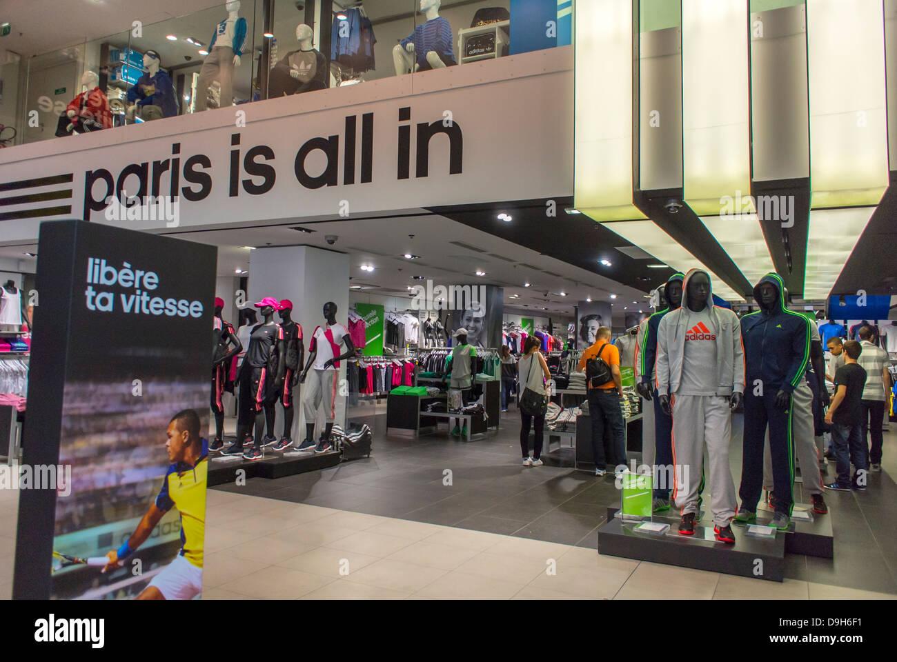 vente chaude en ligne f7b20 a66d6 Paris, France, Interior Shops, Adidas Sport Clothing Store ...