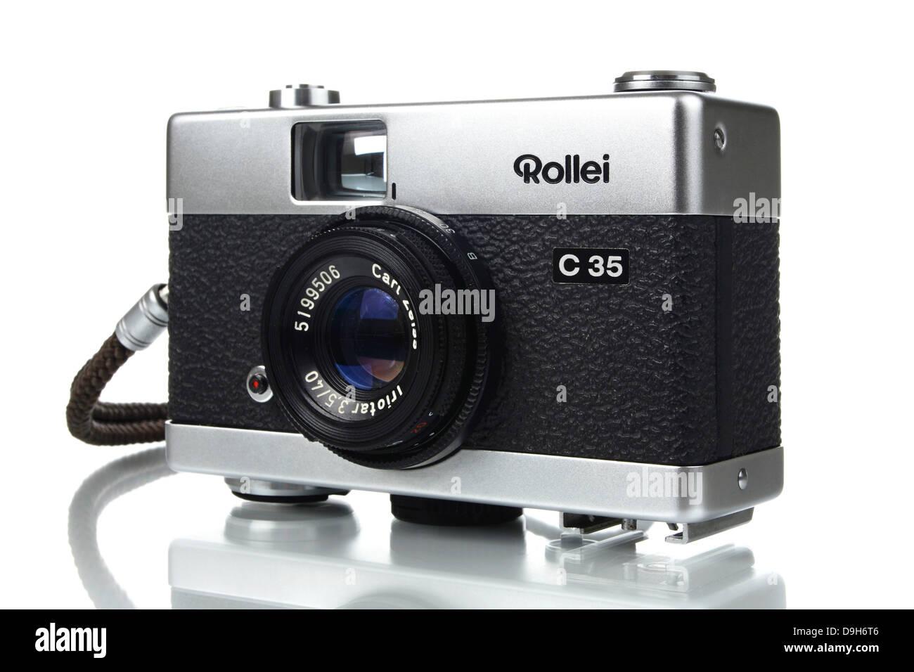 Miniature camera Rollei C35 Stock Photo