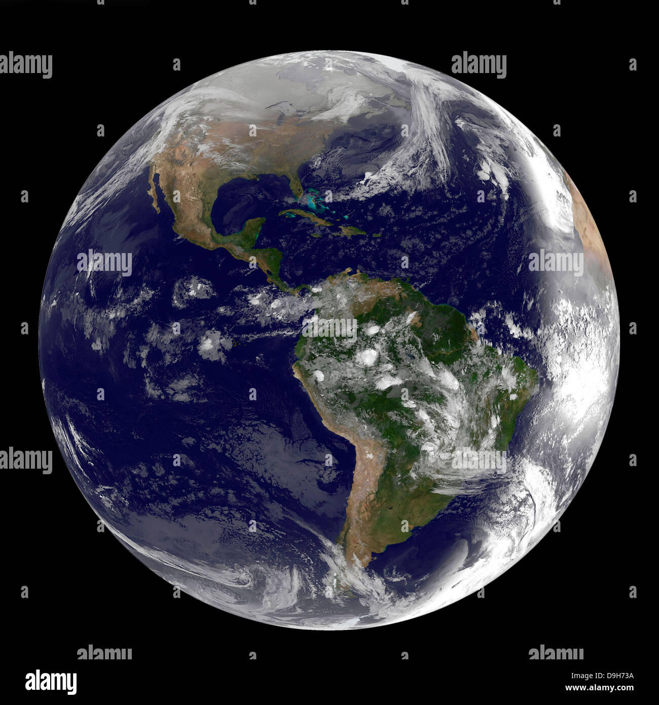 Full Earth showing North and South America on March 2, 2010. - Stock Image