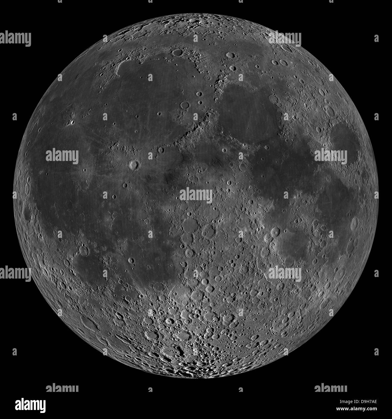 Mosaic of the lunar nearside. - Stock Image