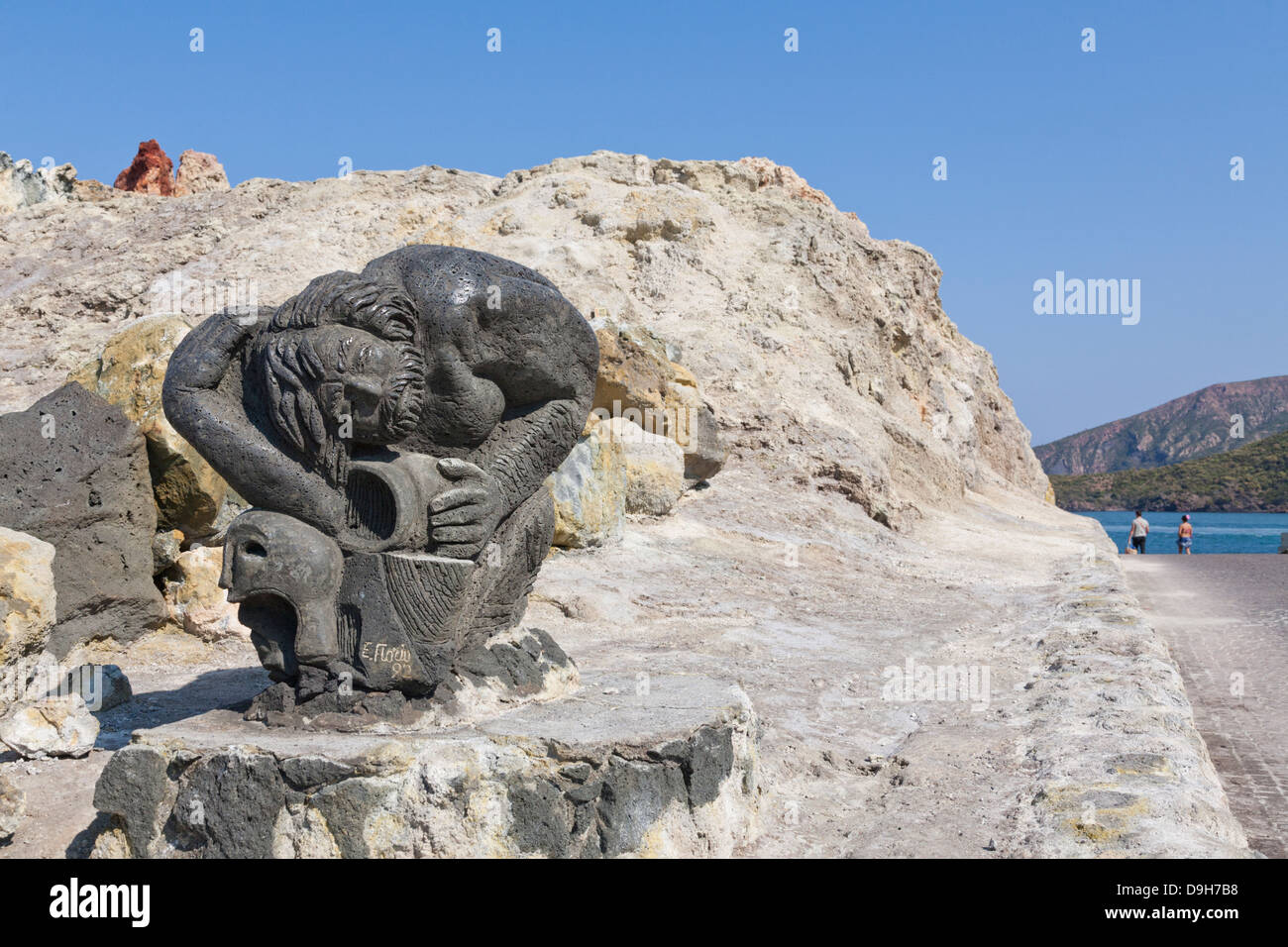 Sculpture, Vulcano, Aeolian Islands, Italy - Stock Image