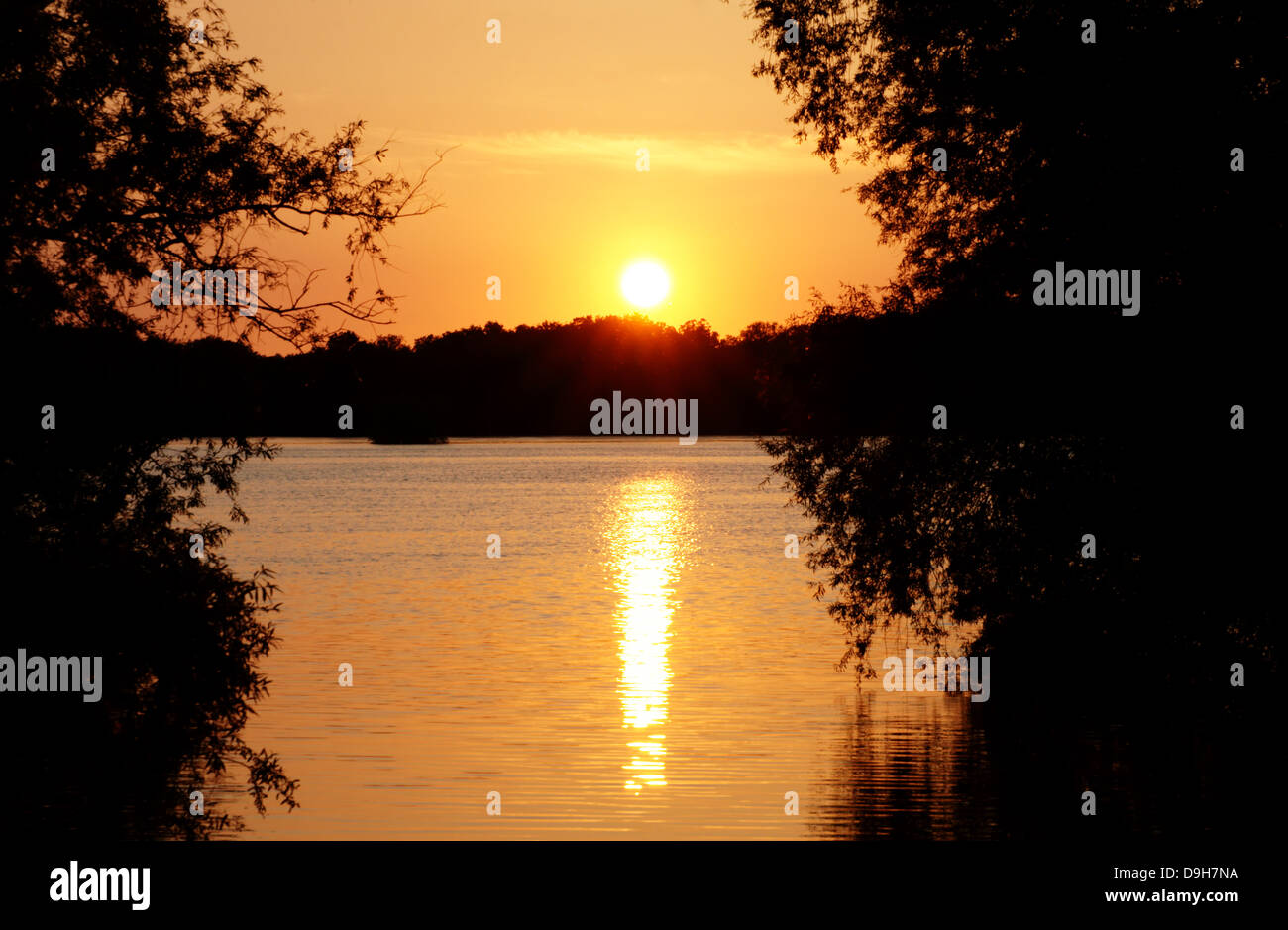 Sundown Stock Photo