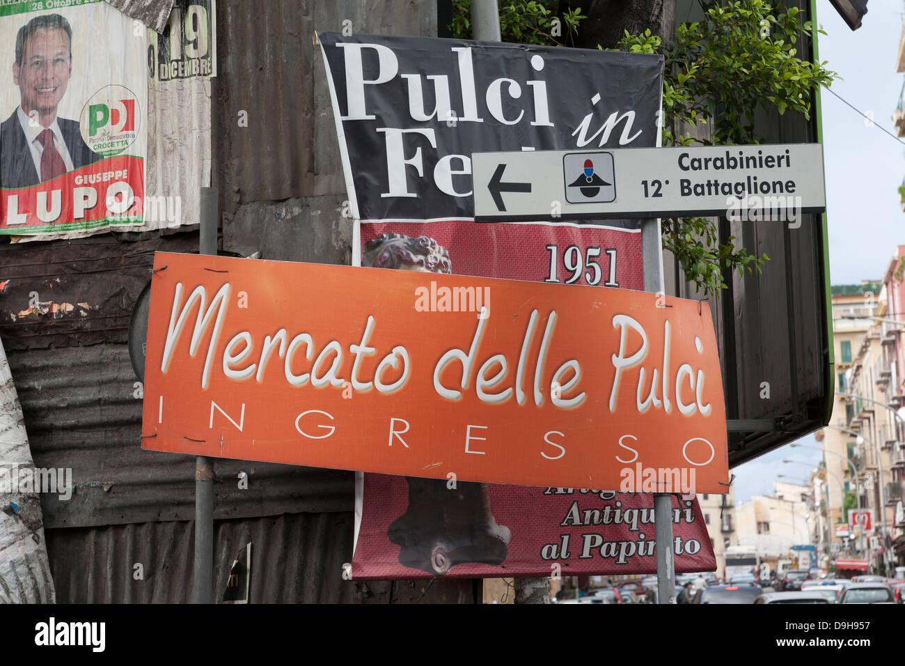 Mercato delle Pulci, Flea Market, Palermo, Sicily, Italy Stock Photo