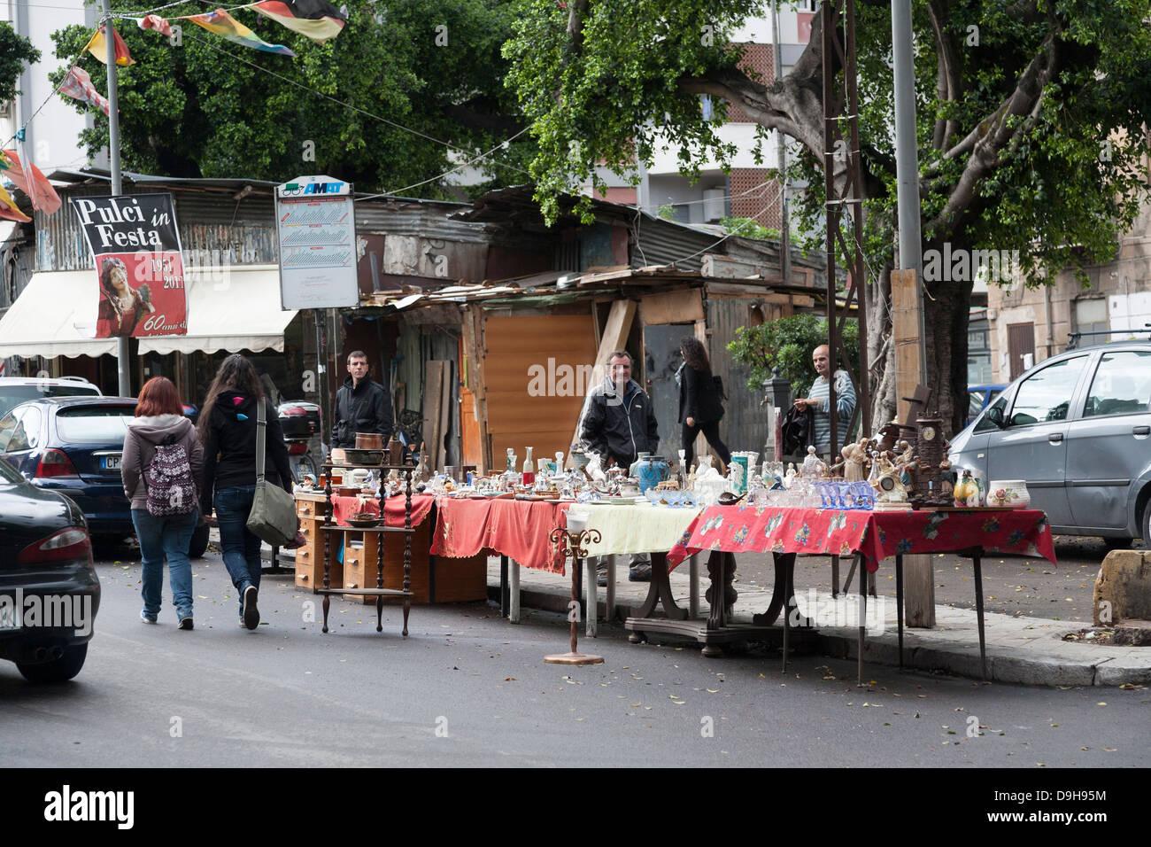 Mercato delle Pulci, Flea Market, Palermo, Sicily, Italy - Stock Image