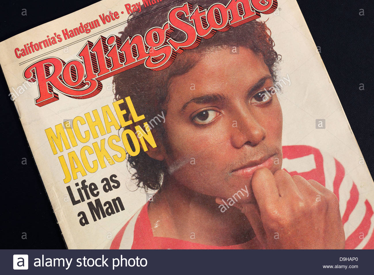 Rolling Stone magazine cover with Michael Jackson. Editorial use only. Commercial use prohibited. - Stock Image