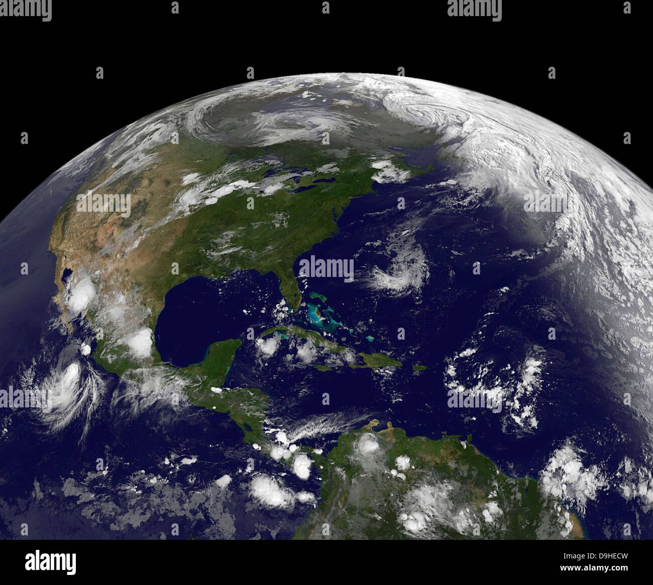 July 22, 2011 - Tropical storms on planet Earth. - Stock Image