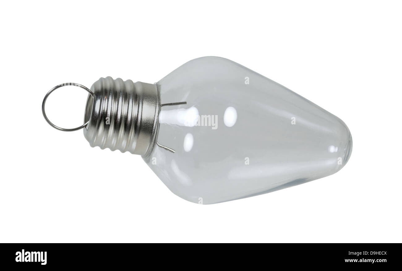 Christmas light bulb usually brightly light for the winter season - Path included Stock Photo