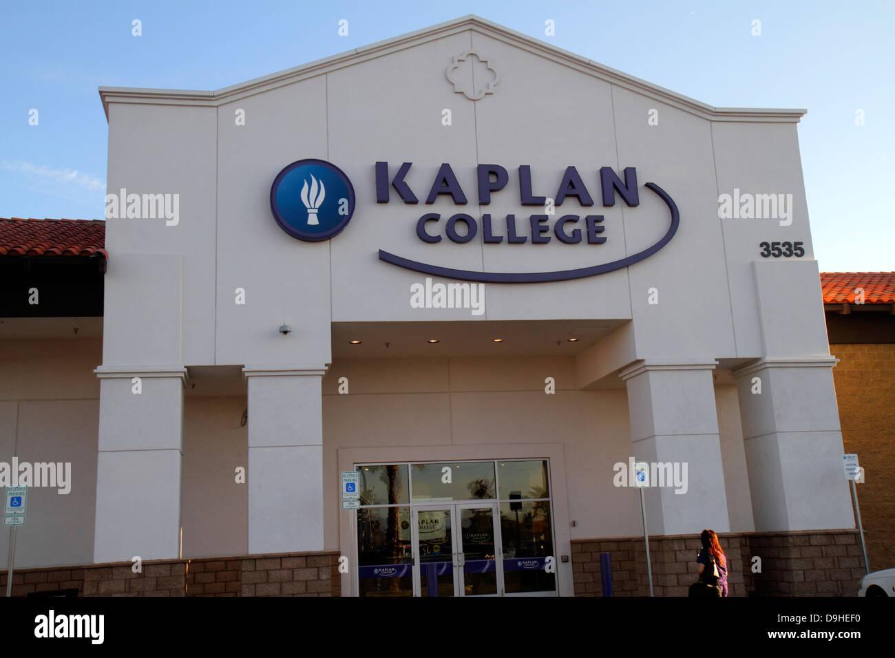 Colleges In Las Vegas >> Nevada Las Vegas West Sahara Avenue Kaplan College Front