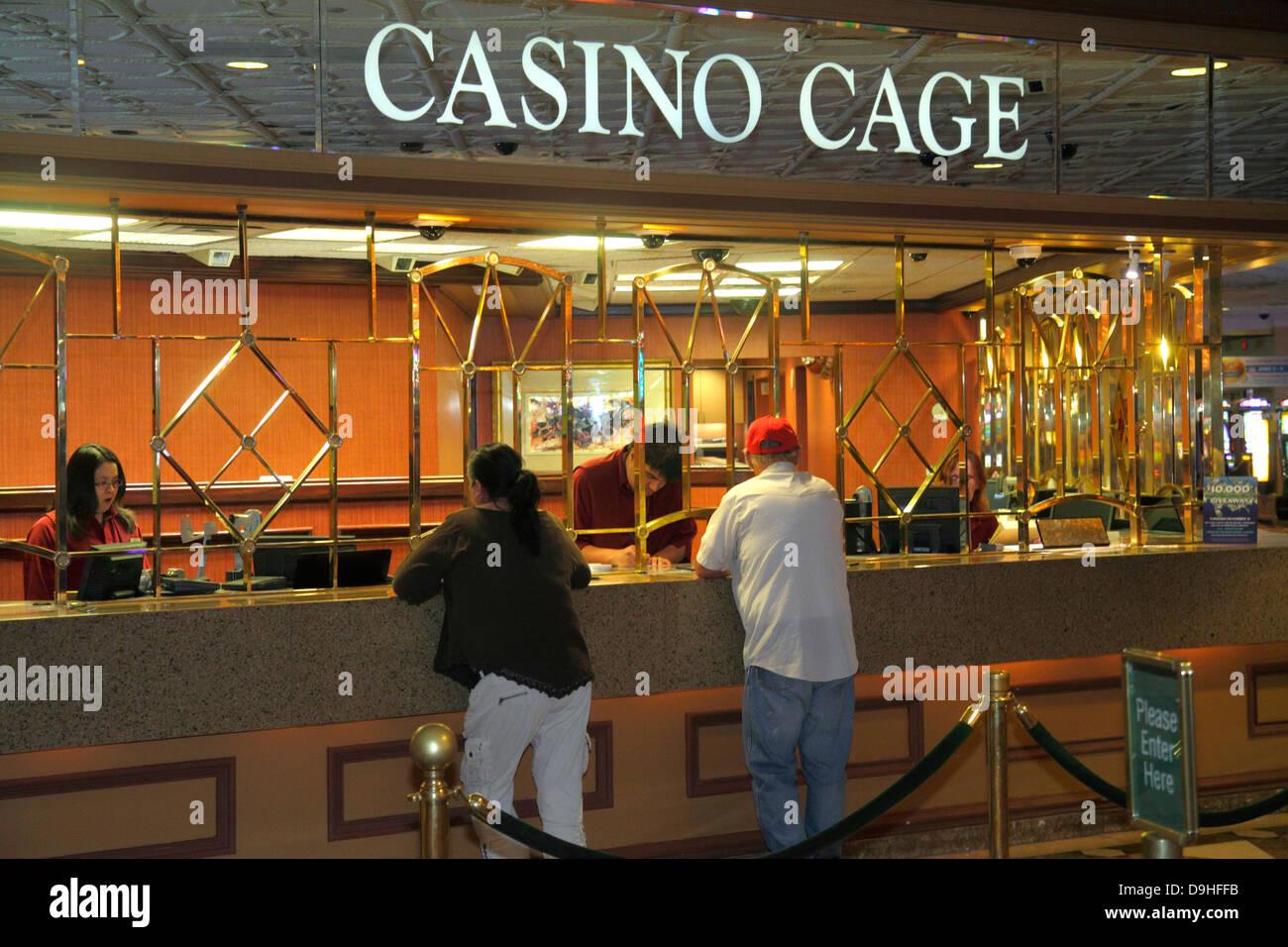 Nevada Las Vegas Las Vegas Hotel & Casino LVH cage gambling gamblers - Stock Image