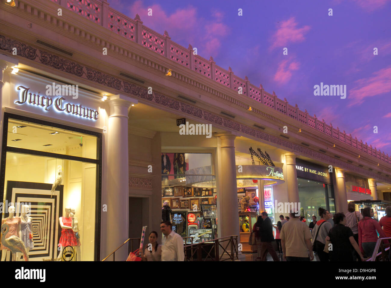 Nevada Las Vegas The Strip South Las Vegas Boulevard Forum Shops at Caesars Palace shopping front entrance for sale - Stock Image