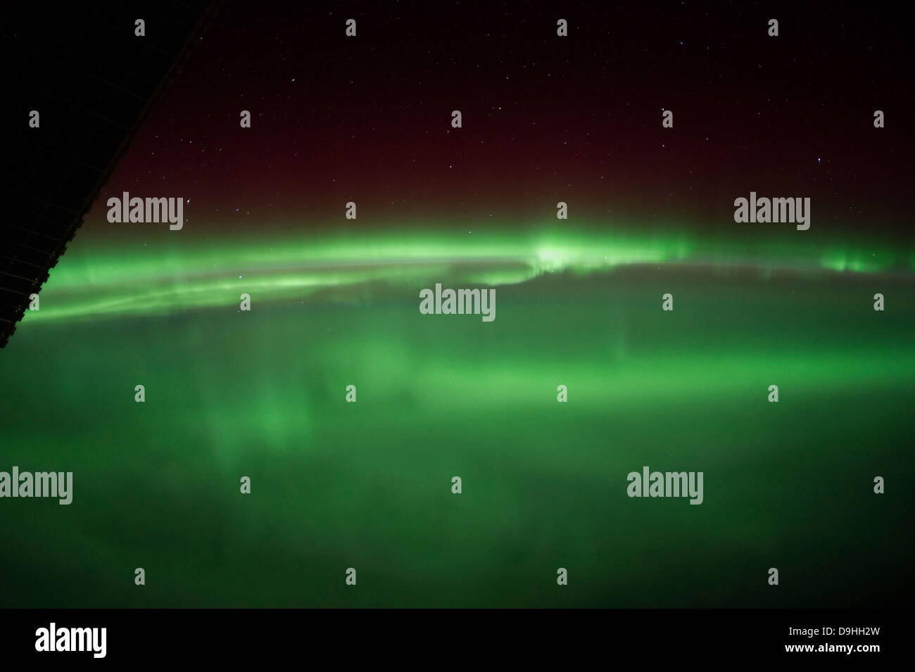 January 25, 2012 - Aurora Borealis as viewed onboard the International Space Station from approximately 240 miles - Stock Image