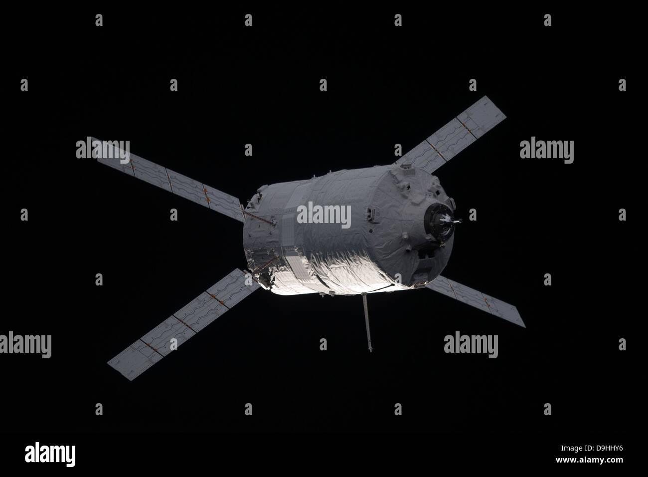 The Edoardo Amaldi Automated Transfer Vehicle-3 resupply spacecraft. - Stock Image
