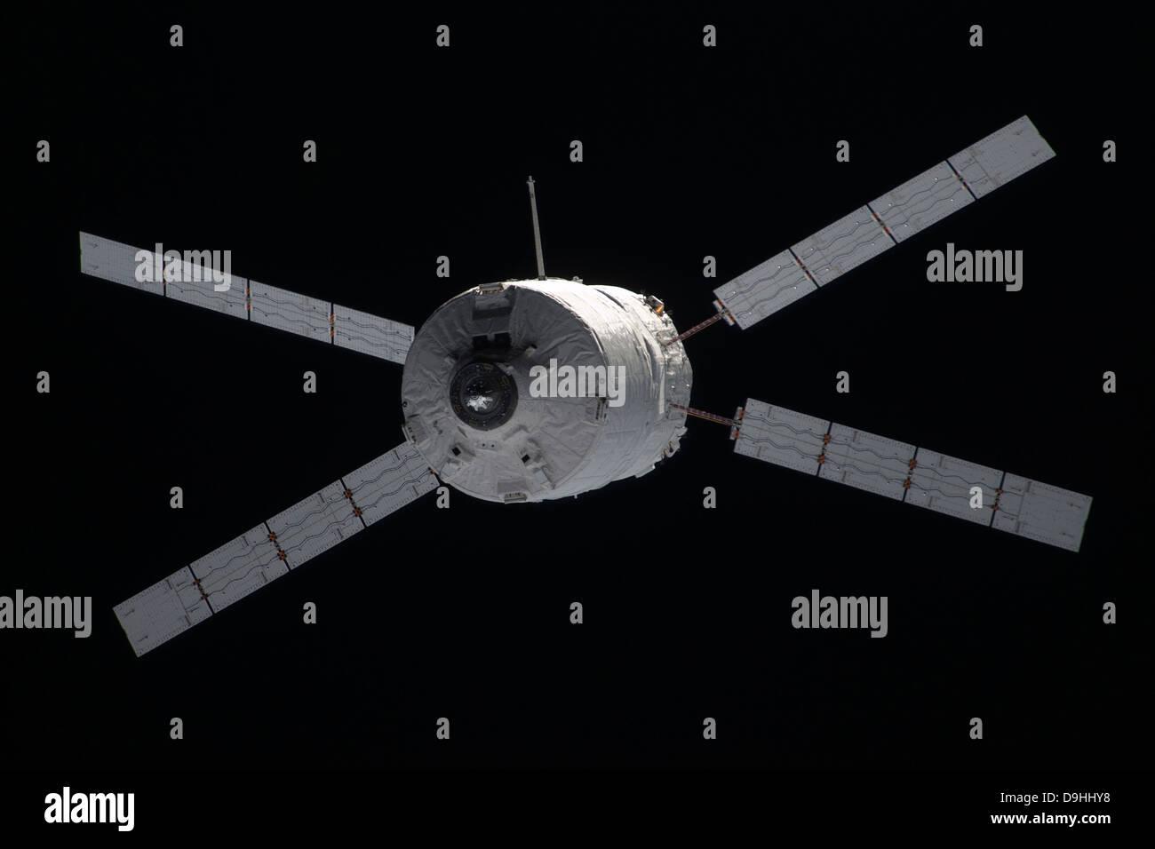 The Edoardo Amaldi Automated Transfer Vehicle-3 resupply spacecraft - Stock Image