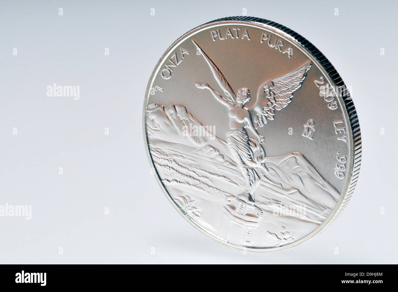 Silver coin - 1oz troy. American eagle - $1 - Stock Image