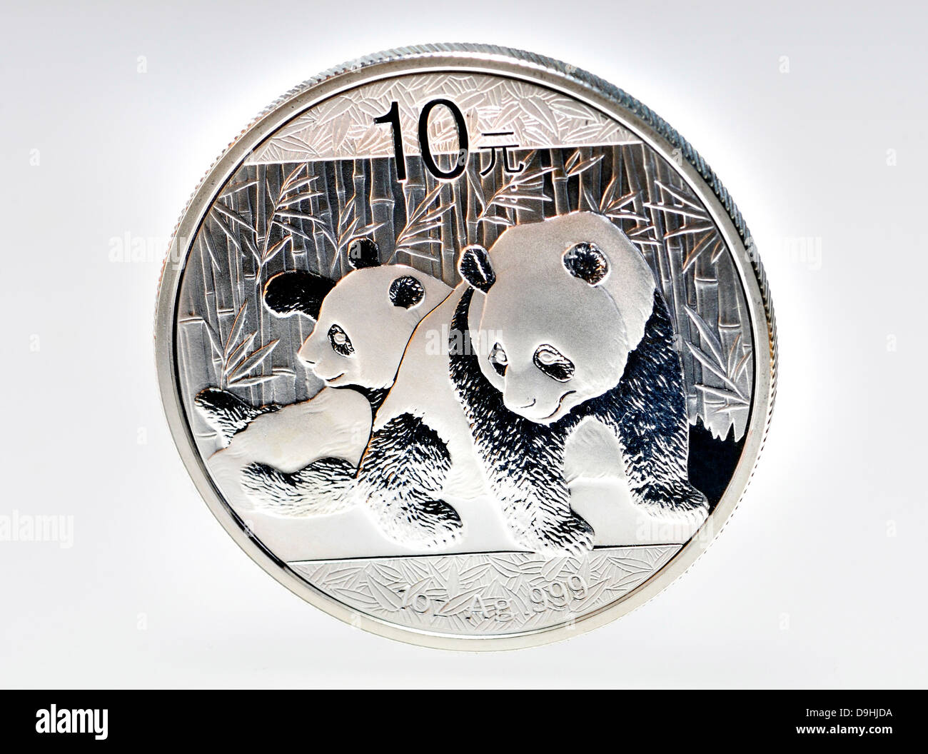Silver coin - 1oz troy. - Stock Image