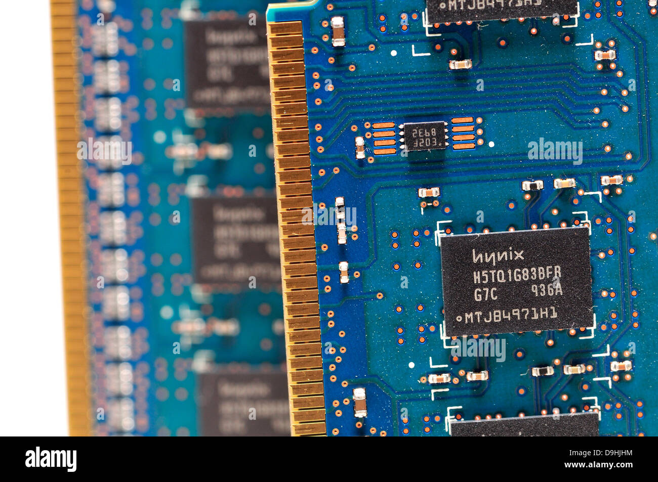 Computer memory modules for extra RAM - Stock Image