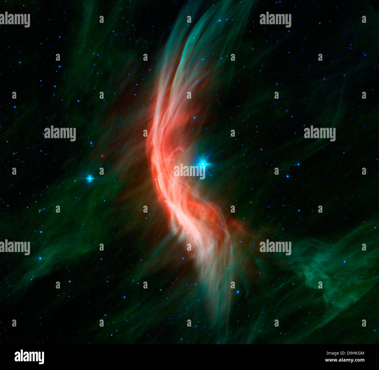 Stellar winds flowing out from the giant star Zeta Ophiuchi. - Stock Image