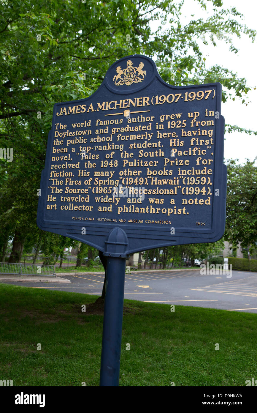 JAMES A MICHENER 1907 1997 The World Famous Author Grew Up In