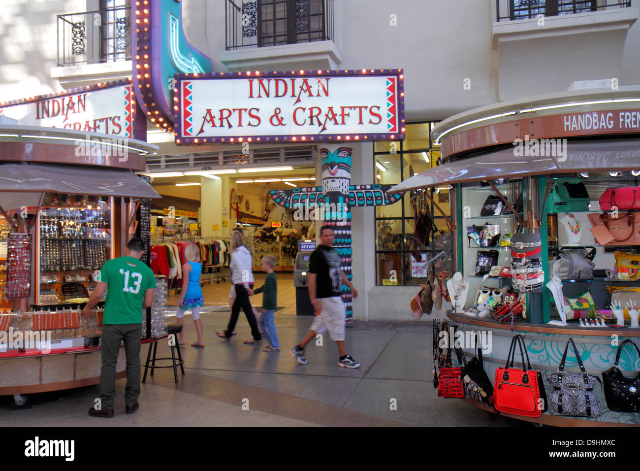 Fremont street experience pedestrian mall stock photos for Arts and crafts las vegas