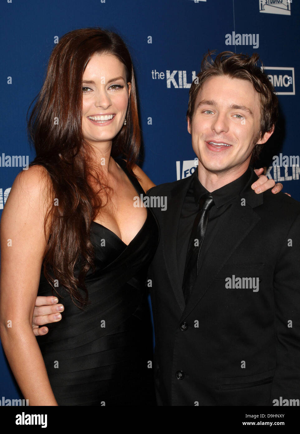 Jamie Anne Allman, Marshall Allman Premiere Of AMC's Series 'The Killing' held at the Harmony Gold Theater - Stock Image