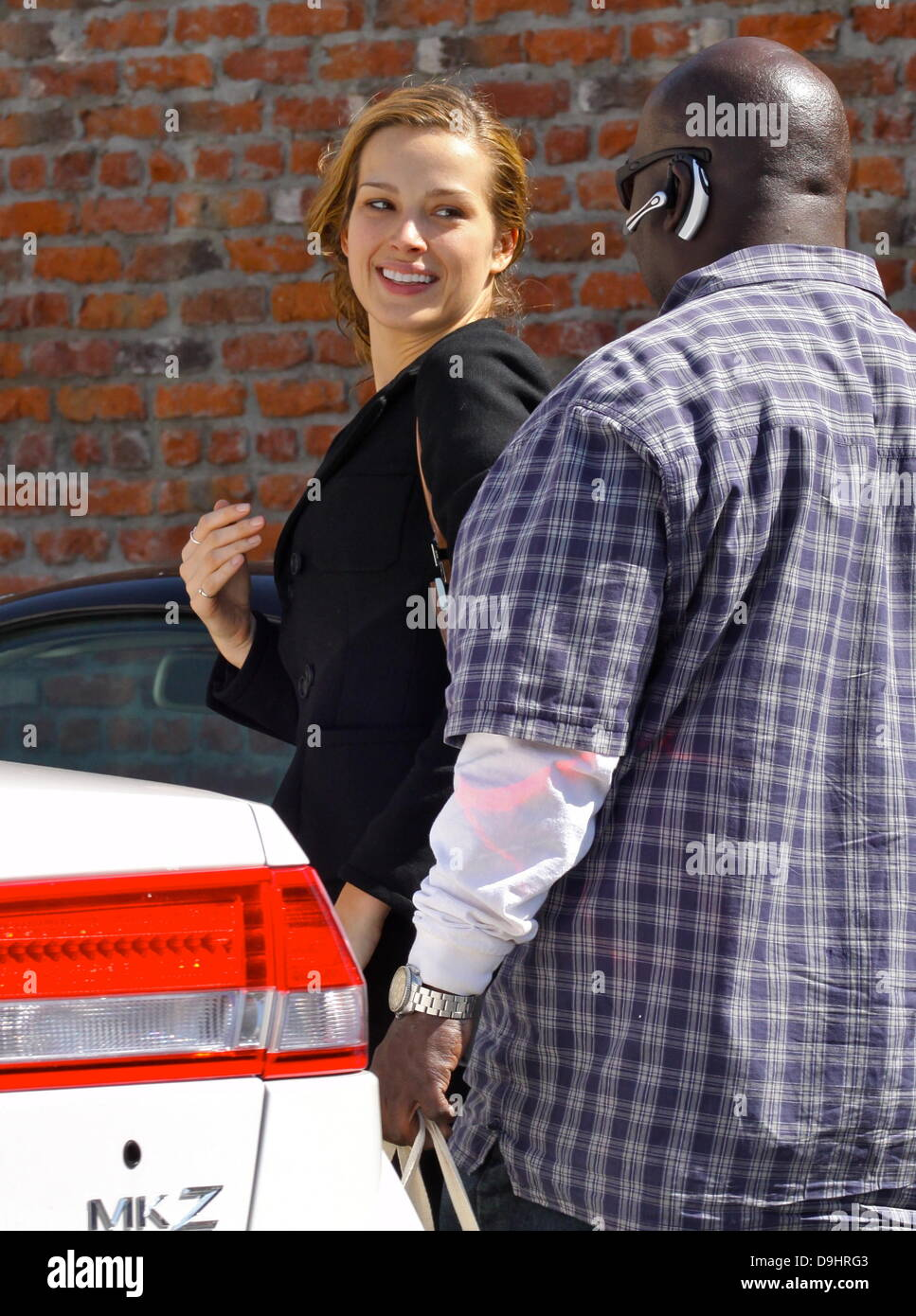 """Petra Nemcova  arrives at a dance studio to rehearse for """"Dancing With The Stars"""" Los Angeles, California - 22.03.11 Stock Photo"""