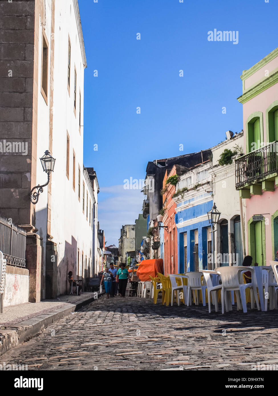 The historical center of Recife, the capital of Pernambco region in Brazil. - Stock Image