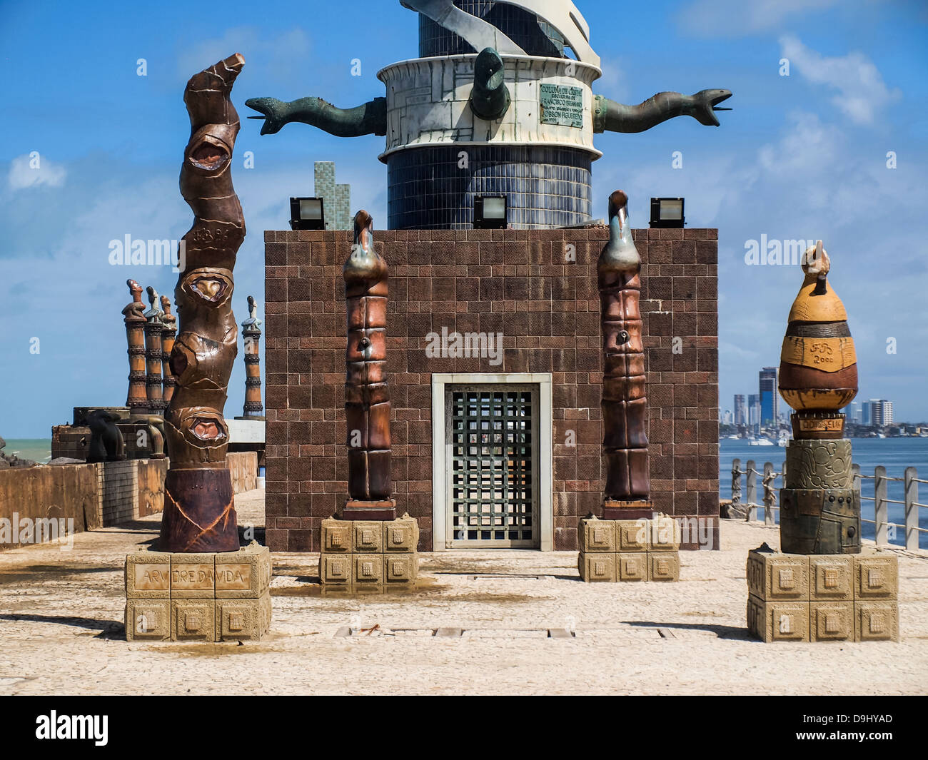The sculpture park in Recife, Brazil. The park is opened to public, it is one of the free off charge attraction - Stock Image