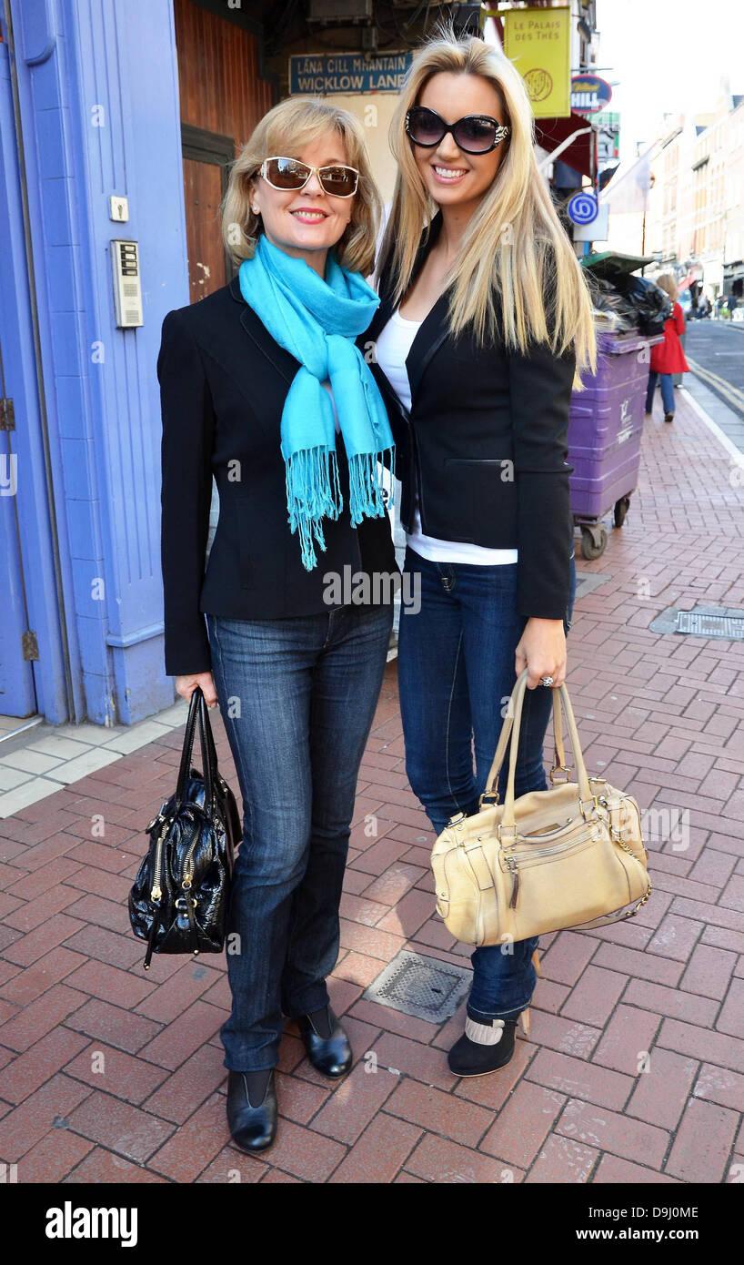 Former miss world rosanna davison and her mother diane davison out former miss world rosanna davison and her mother diane davison out and about in dublin dublin ireland 300311 thecheapjerseys Images