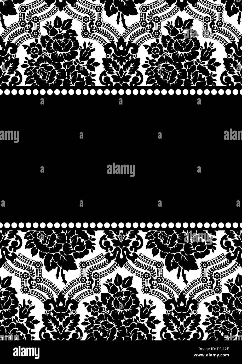 Vector damask frame Stock Photo: 57558998 - Alamy