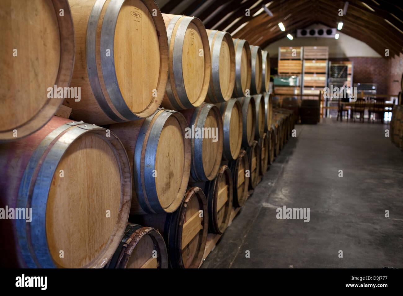 Mullineaux wine cellar 225 litres red wine stored in french oak barrels Swartland wine route Riebeek Kasteel Western Cape South & Mullineaux wine cellar 225 litres red wine stored in french oak ...