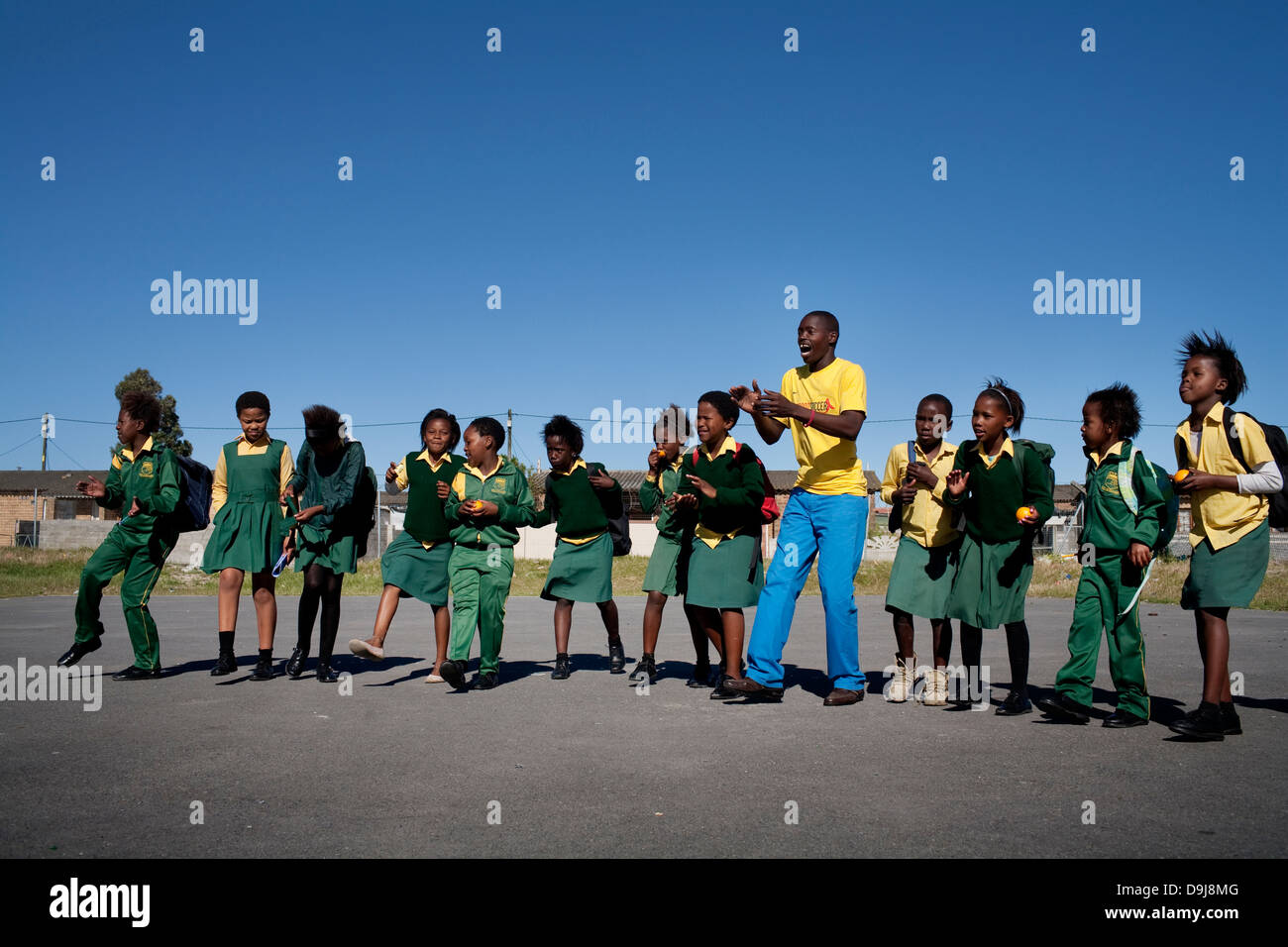 Grassroot Soccer uses power soccer to educate inspire mobilize communities to stop spread HIV Andile Rafeni has - Stock Image