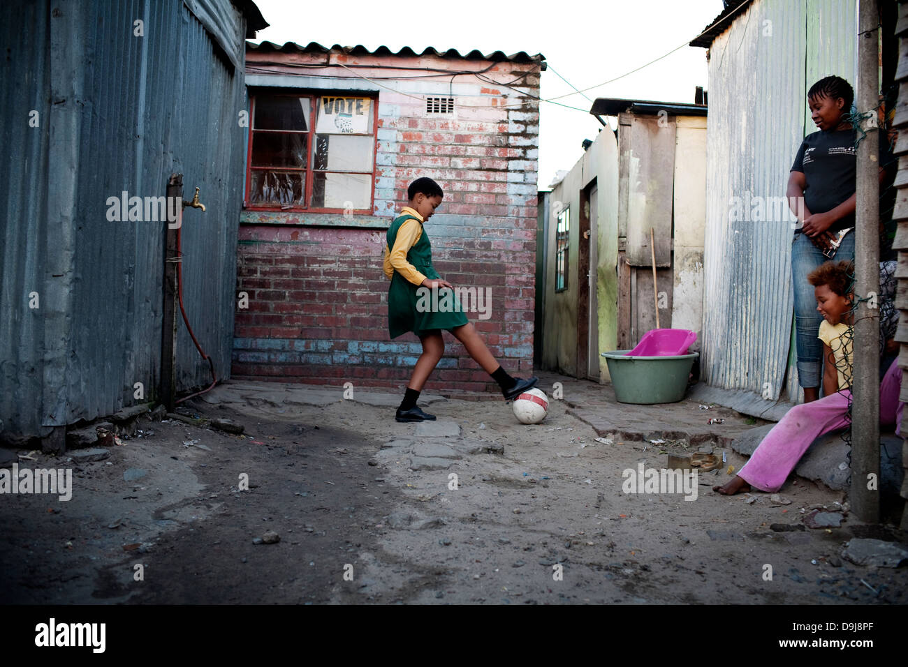 Grassroot Soccer uses power soccer to educate inspire mobilize communities to stop spread HIV Likhona practices - Stock Image