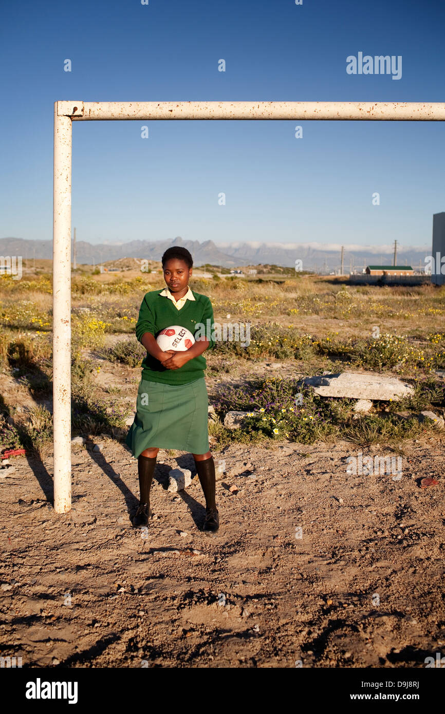 Grassroot Soccer uses power soccer to educate inspire mobilize communities to stop spread HIV Portrait Phakama Mndebe - Stock Image