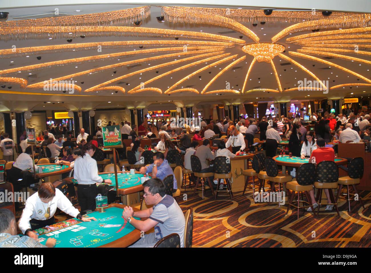 Nevada Las Vegas The Strip South Las Vegas Boulevard Caesars Palace Las Vegas Hotel & Casino gambling gamblers - Stock Image