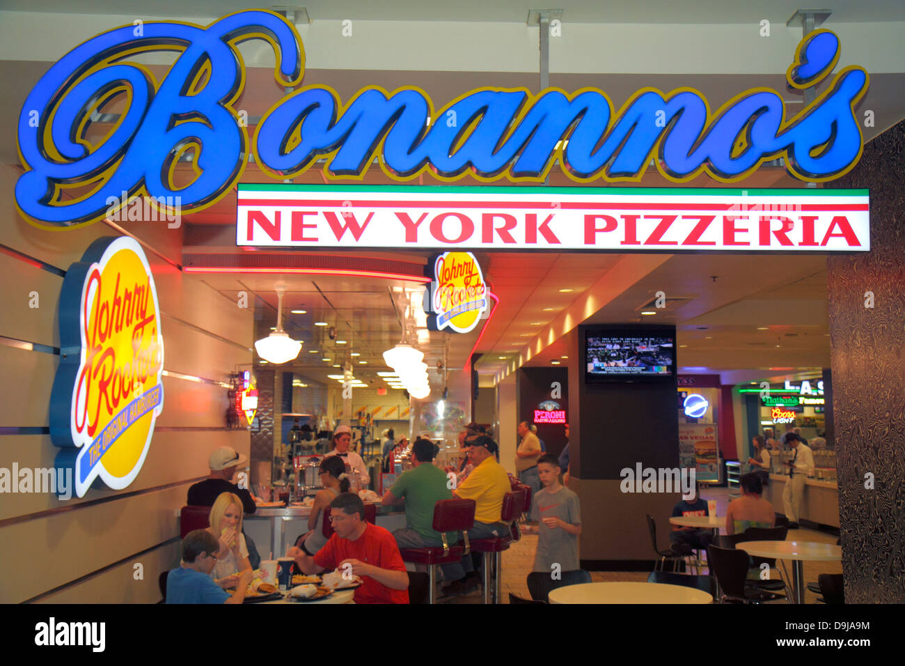 Nevada Las Vegas The Strip South Las Vegas Boulevard Flamingo Las Vegas Hotel and Casino food court Bonanno's - Stock Image