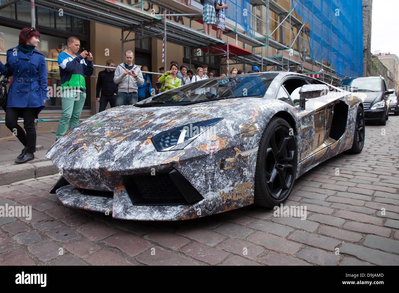 Lamborghini Aventador at Gumball 3000 race, Tallinn ...