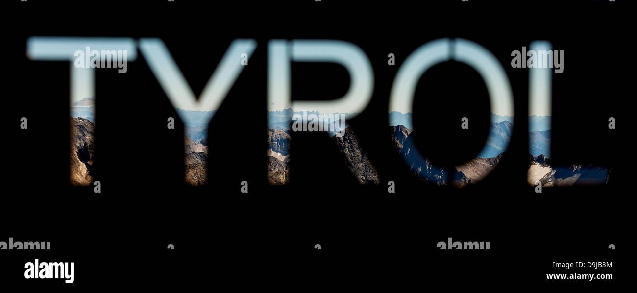 Tyrol, Austria Sign - Stock Image