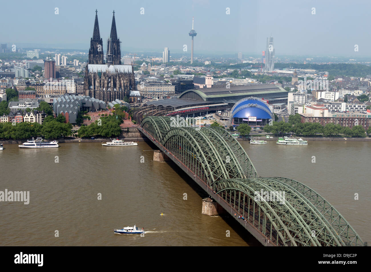 River Rhine Cologne Germany - Stock Image