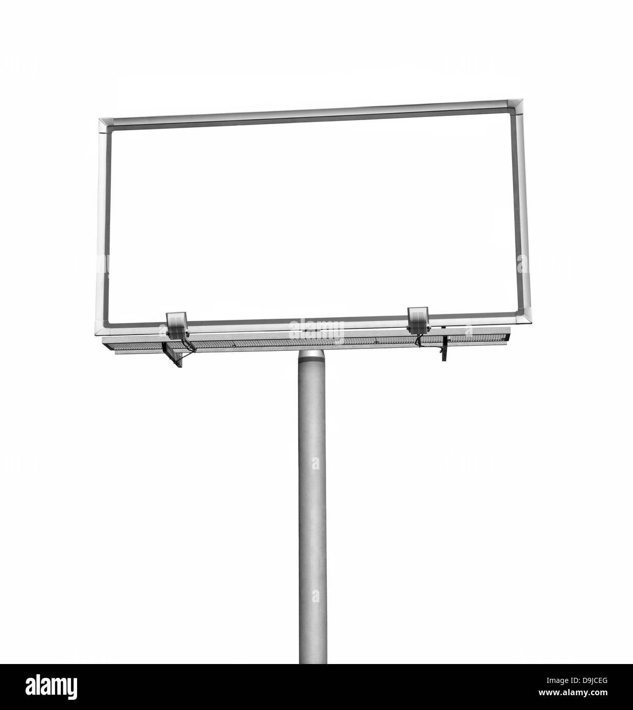 Blank billboard with clipping path - Stock Image