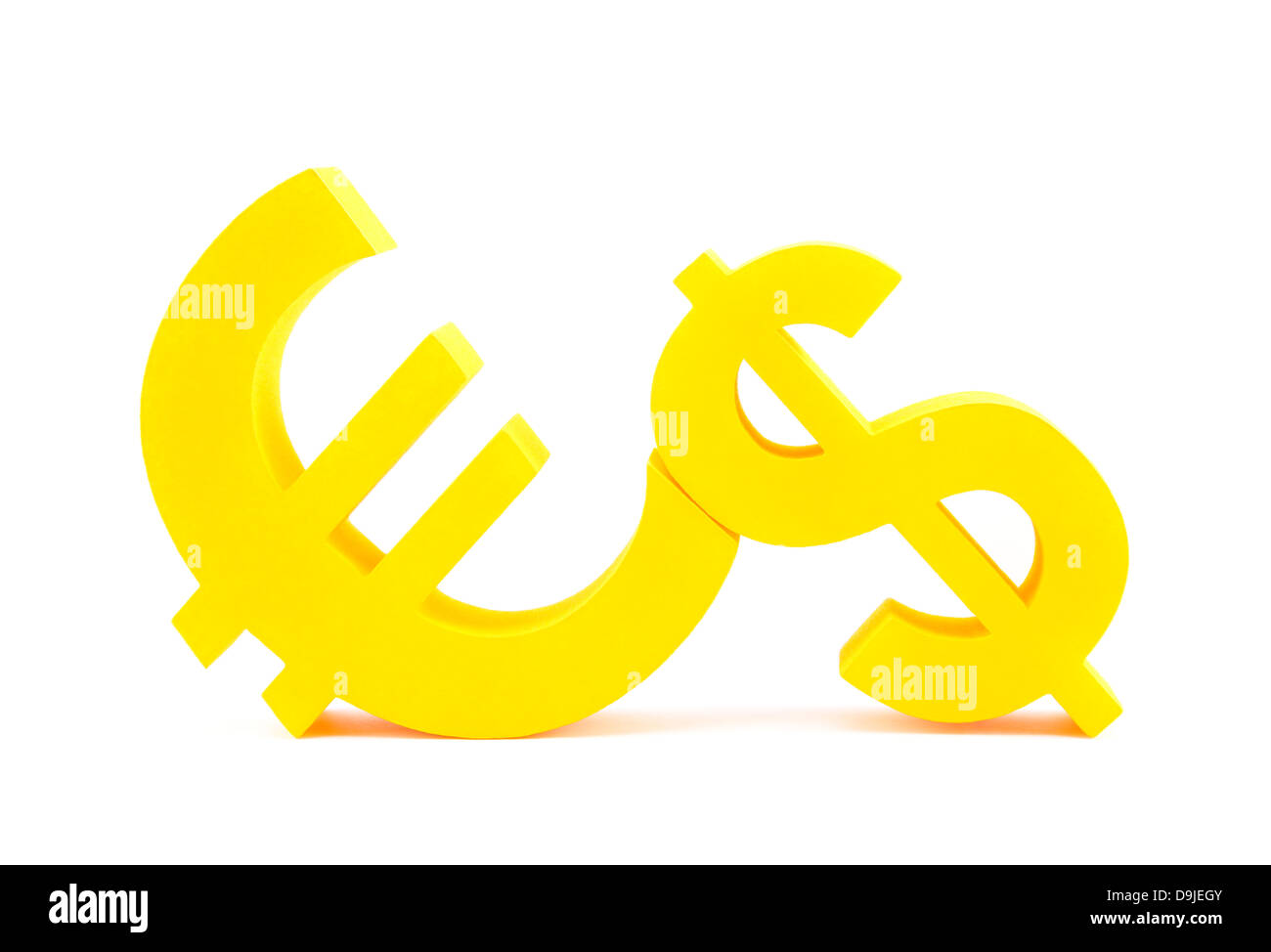 Euro With Dollar Currency Symbols Stock Photo 57569595 Alamy