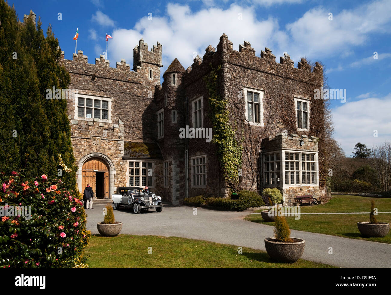 Waterford Castle built in the 15th Century, (now a hotel), On an Island in the River Suir Near Waterford City, Ireland Stock Photo