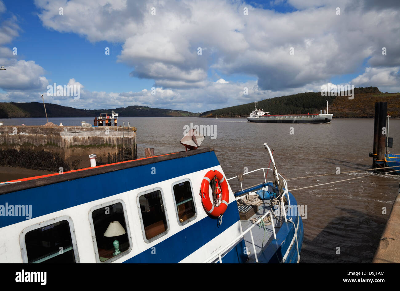 'Flinterbaltica' The Harbour and Leisure Boat , Passage East, County Waterford, Ireland - Stock Image