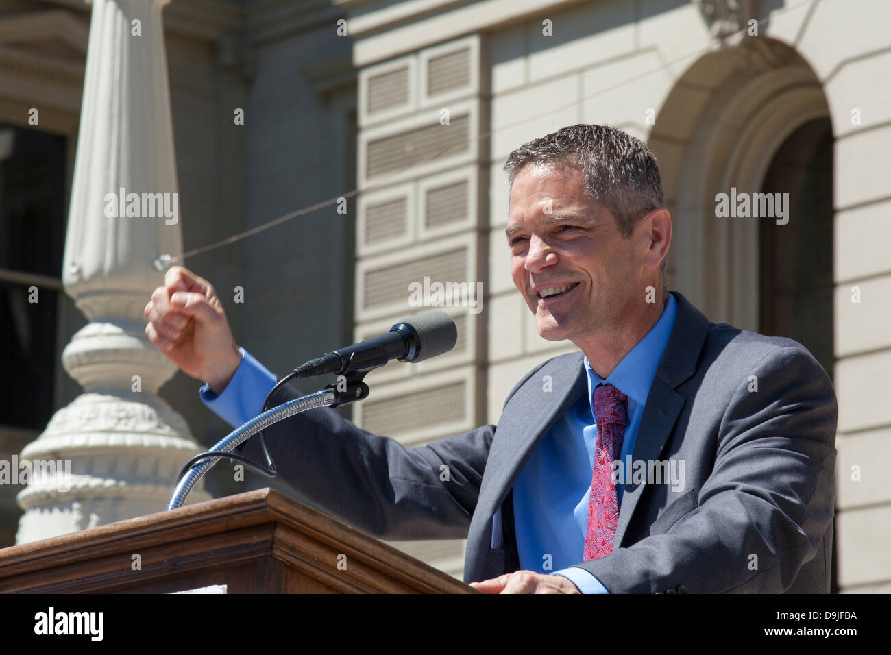 Mark Schauer, Candidate for Governor of Michigan - Stock Image