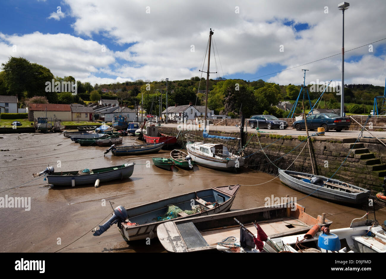 The Fishing Harbour at Cheekpoint, County Waterford, Ireland - Stock Image